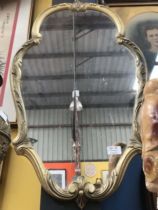 LOT 76	~	Gilded Hall Mirror