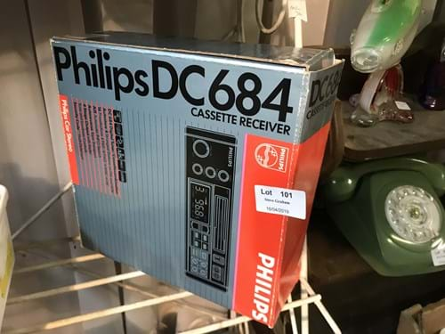 LOT 101	~	Phillips DC684 Cassette Reciever in Box