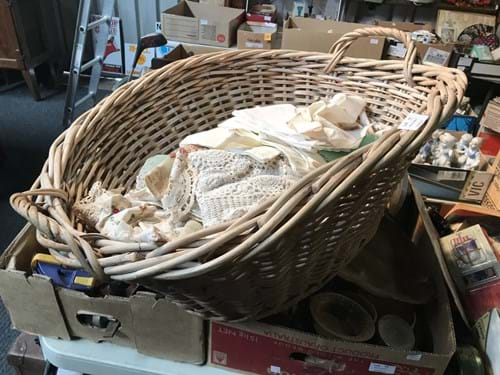 LOT 11	~	Basket of Vintage Doyleys, Napkins etc