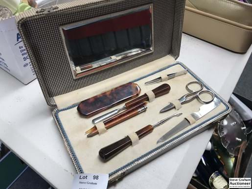 LOT 98	~	Mid Century Manicure Set in Case