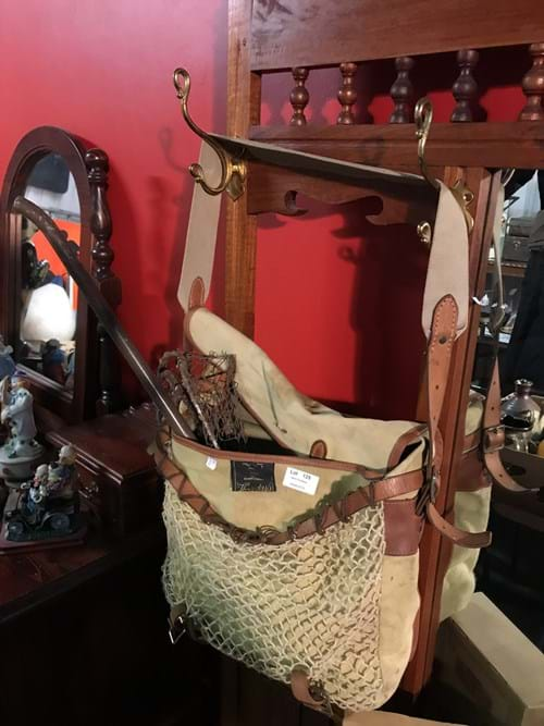 LOT 125	~	Fishing Bag, Reels, Net etc.