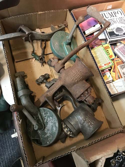 LOT 13	~	Box of Vintage Kitchen Items