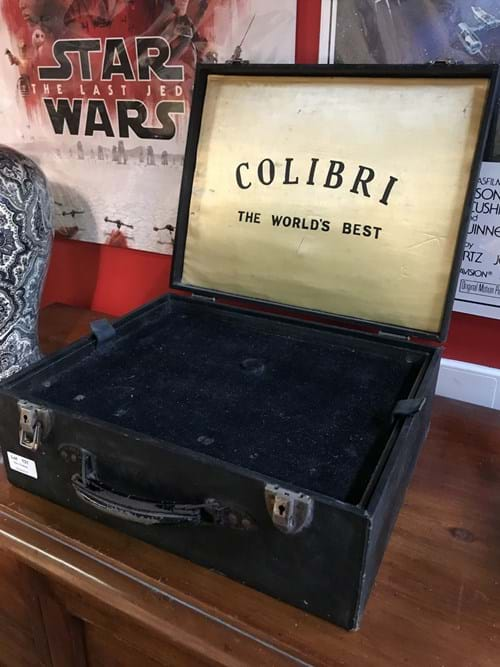LOT 131	~	1950's Colibri Cigarette Lighter Salesmans Sample Case