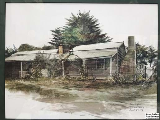 LOT 110	~	2 x Robert Ingpen August 16th 1976 Framed Churchill Island Cottage Scenes