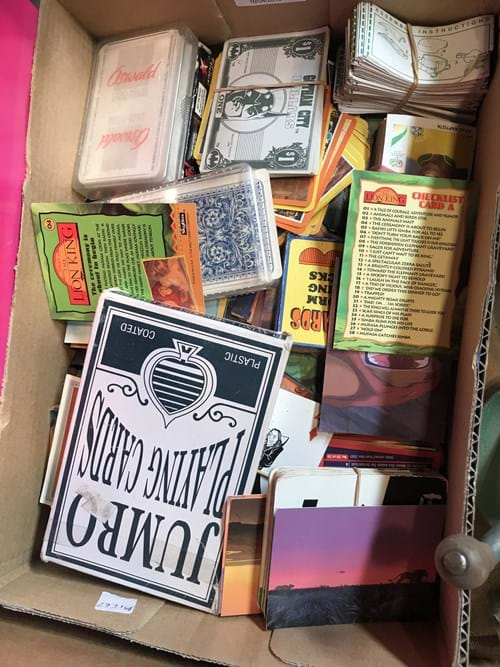 LOT 14	~	Box of Collectors / Swap Cards etc