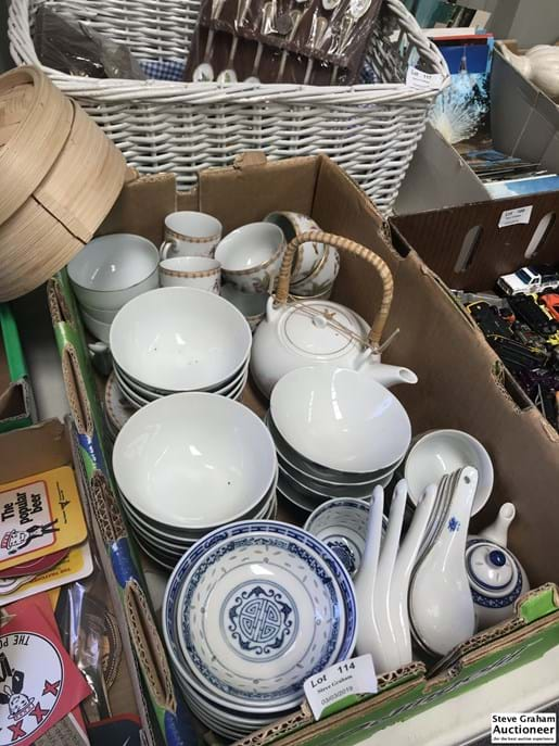 LOT 114	~	Chinese Tea Sets, Cups, Bowls etc.