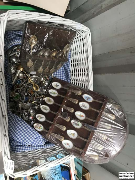 LOT 117	~	Basket of Collectors Spoons