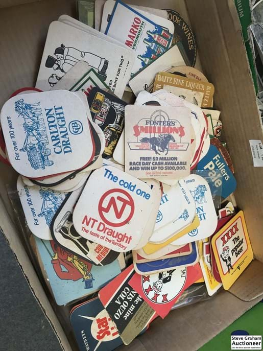 LOT 118	~	Box of Collectable Bar Coasters