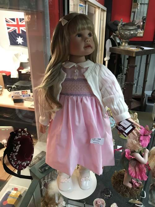 LOT 144	~	Annabelle Porcelain Doll
