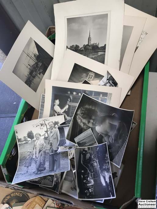 LOT 119	~	Box of Old Photographs etc.
