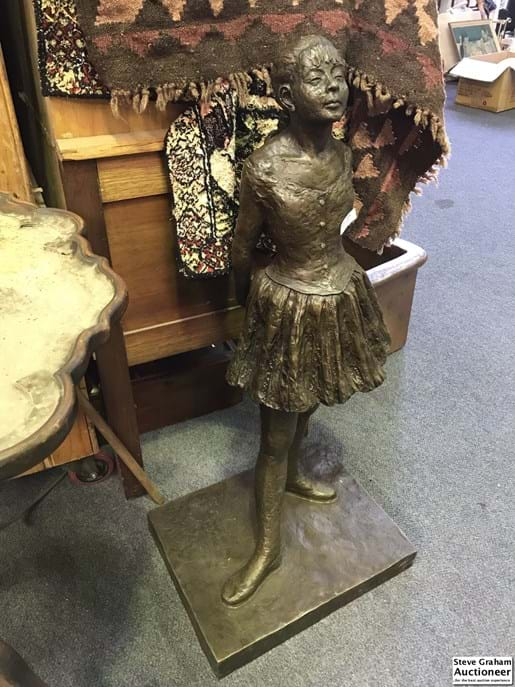 LOT 133	~	Large Bronze Statue of a Girl