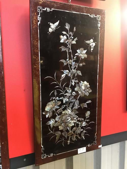 LOT 152	~	4 Oriental Mother of Pearl Wall Panels