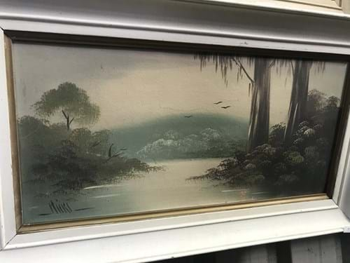 LOT 157	~	2 Framed Vintage Paintings