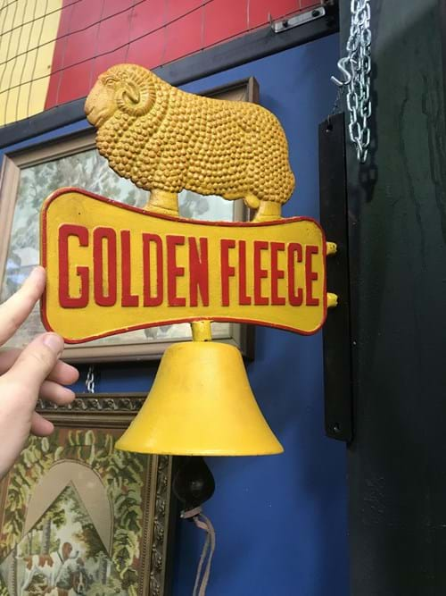 LOT 160	~	Golden Fleece Cast Iron Hanging Bell