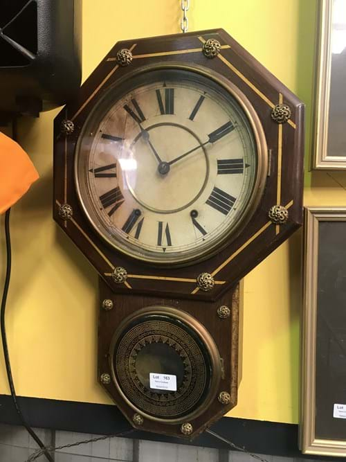LOT 163	~	C19th Seth Thomas Wall Clock working
