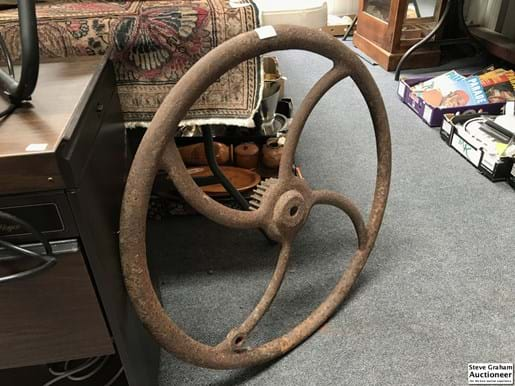 LOT 160	~	Antique Cast Iron Fly Wheel