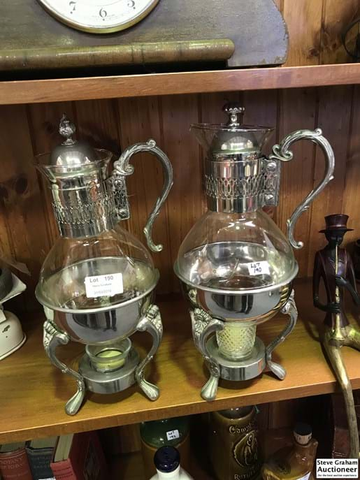 LOT 190	~	2 Retro Coffee Pots with Burner