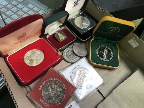 LOT 180	~	Assorted Coins, Medallions etc