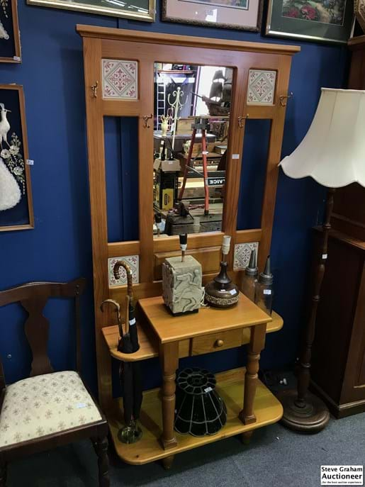 LOT 212	~	Mirrored Hall Stand