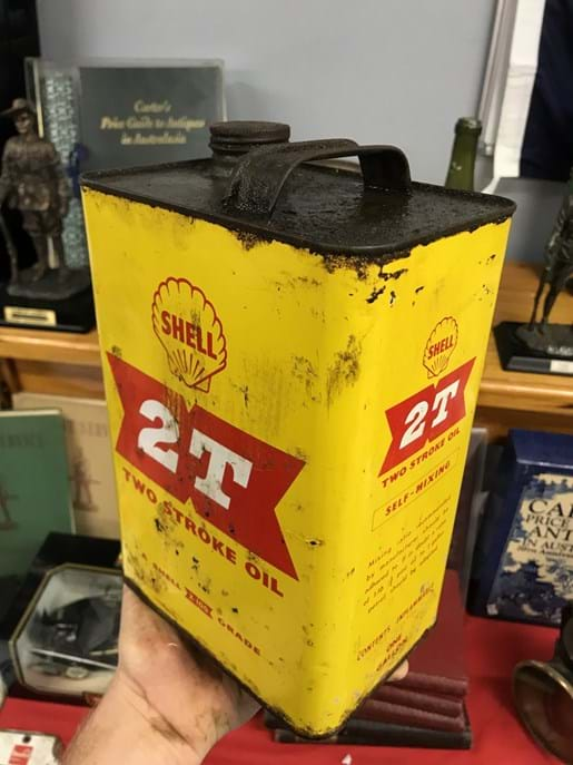 LOT 13	~	Shell Two Stroke 2T One Gallon Tin