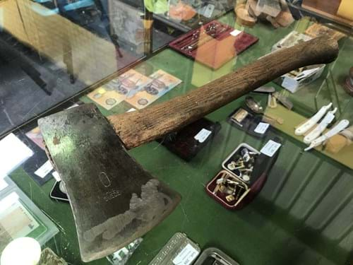 LOT 210	~	Swedish Branded Hatchet