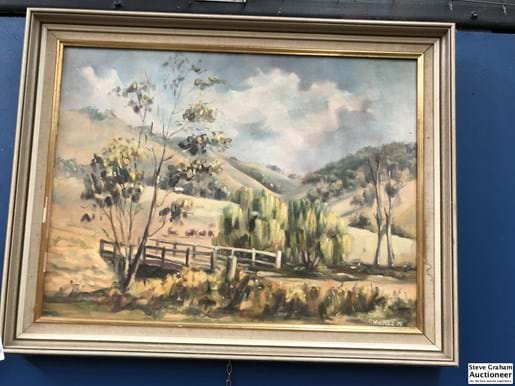 LOT 27	~	Framed Landscape Signed Lower Right S Walpole