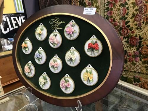 LOT 229	~	Framed Salvatore Sarno Floral Ornament Display