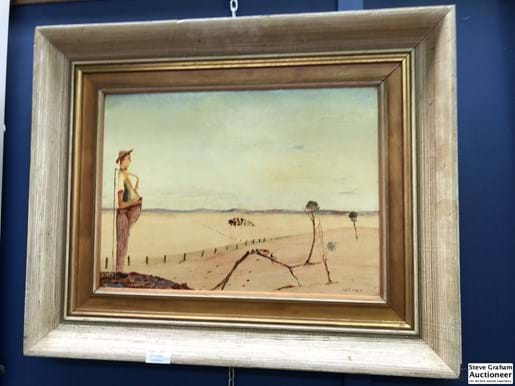 LOT 211	~	Irving Homer (1919 - 1980) The Boss, oil on board, signed lower right