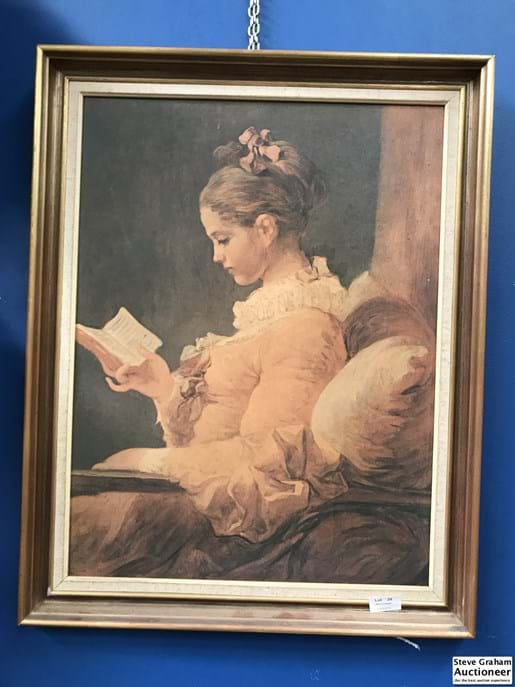 LOT 28	~	Framed Print of Lady Reading