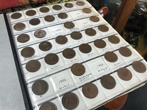LOT 255	~	An Album of Australian Pennies & Half Pennies, World Coins etc