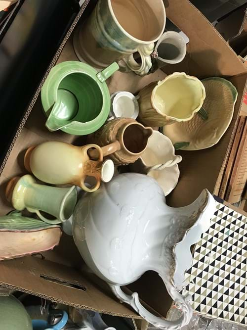 LOT 30	~	Box of China, Jugs, Vases