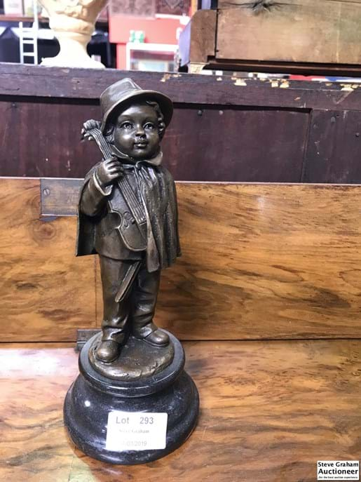 LOT 293	~	Bronze Figure of a Child with Violin
