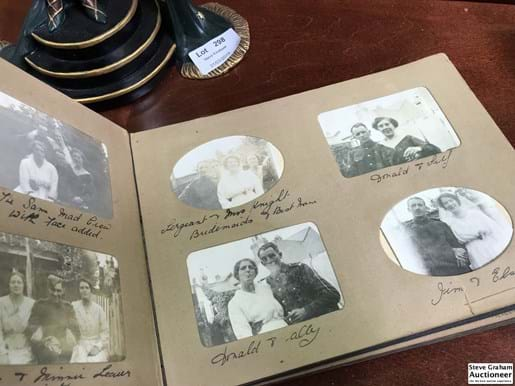 LOT 297	~	Early 1900's Photo Album w Contents