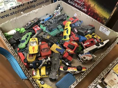 LOT 277	~	Box of Die Cast Cars - Play Worn