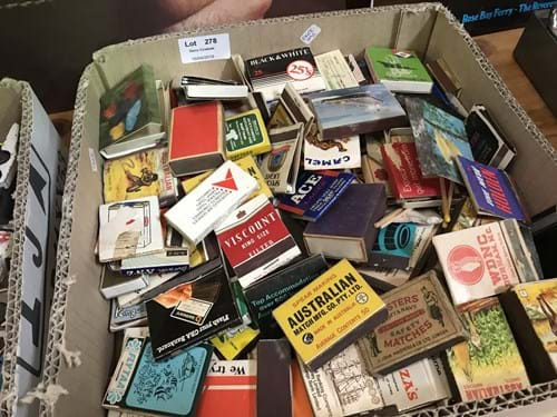 LOT 278	~	Box of Collectable Matchbooks & Boxes