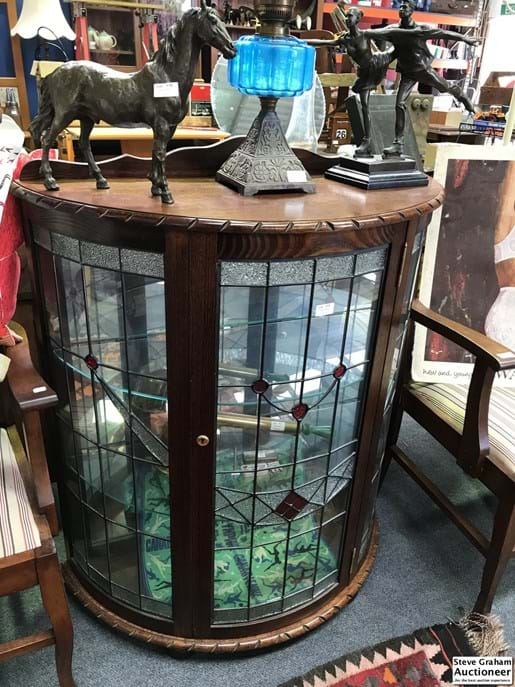 LOT 314	~	Leadlight Crystal Cabinet