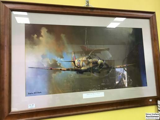 LOT 324	~	Large Spitfire Print by Barrie Clark