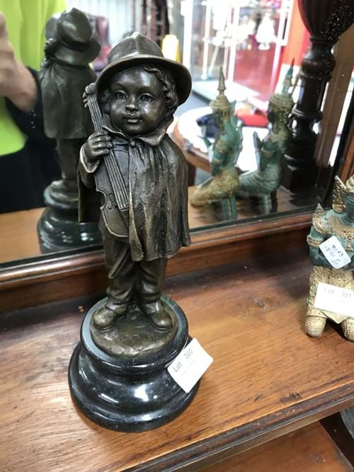 LOT 300	~	Bronze Figure of a Child with Violin