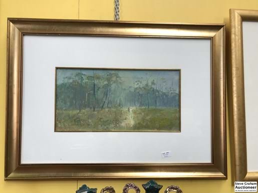 LOT 279	~	John Mather 'Strolling Through The Field' Oil on Board