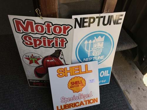 LOT 314	~	3 Repro Signs - Neptune, Shell & Texaco