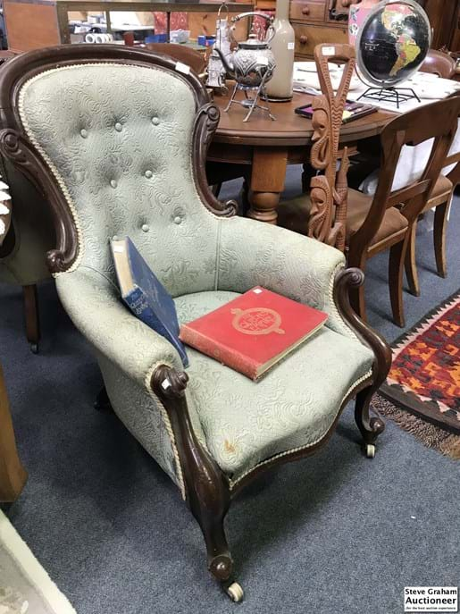 LOT 343	~	Victorian Grandmothers Parlour Chair