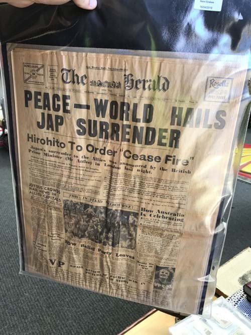 LOT 317	~	2 x WW2 Newspapers