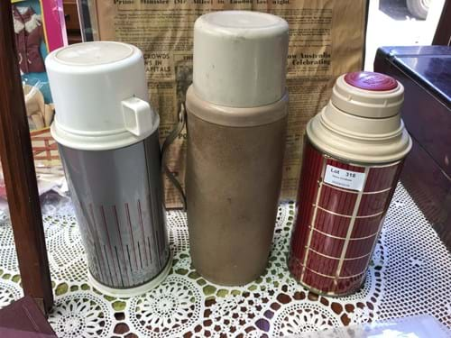 LOT 318	~	3 Vintage Thermos's