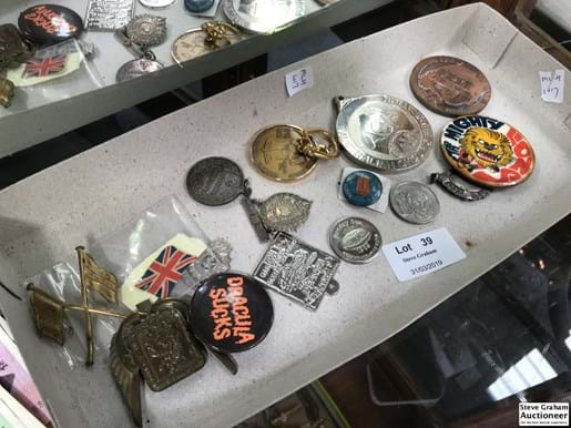 LOT 39	~	Tray of Badges, Medallions etc