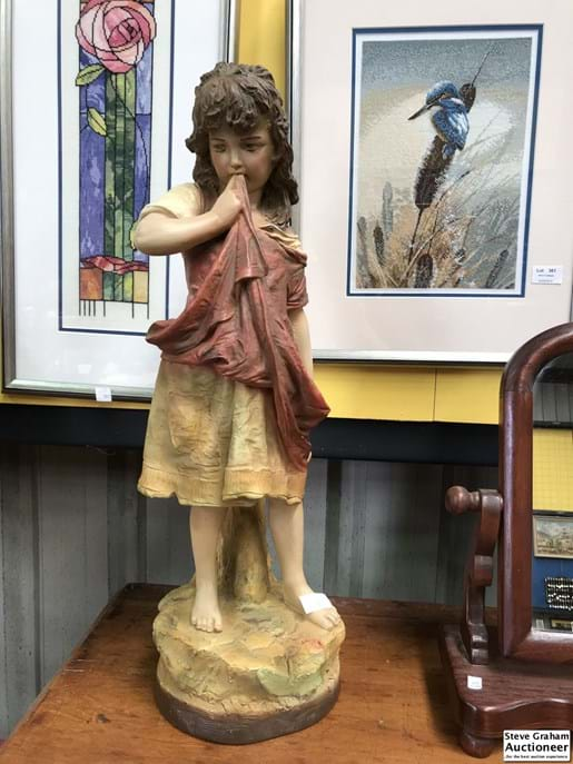 LOT 358A	~	Early Plaster Girl Figure