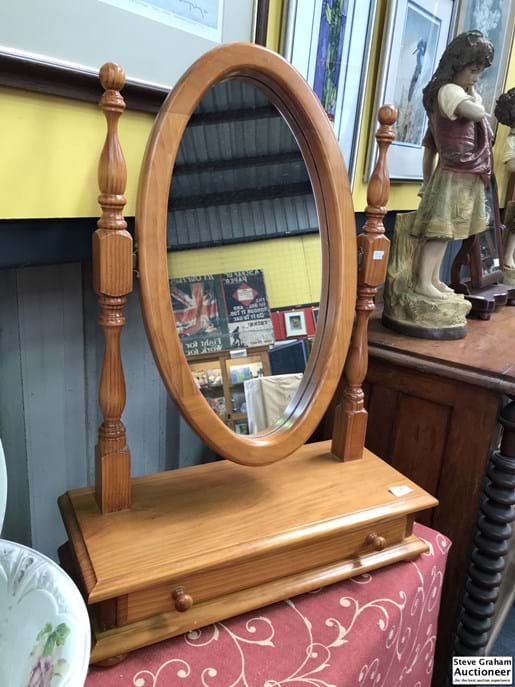 LOT 363	~	Pine Chest Top Mirror
