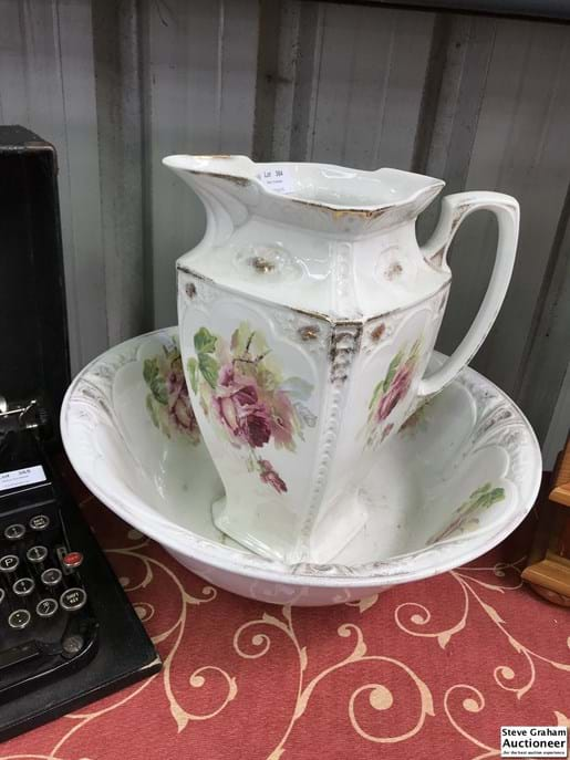 LOT 364	~	early 1900's Meakin Washbowl & Jug Set
