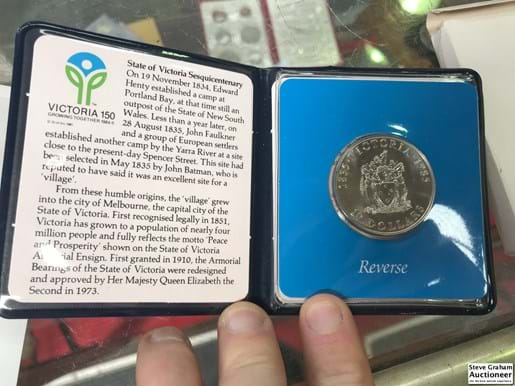 LOT 303	~	1985 $10 Silver Proof Coin -State Series Victoria