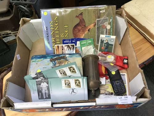 LOT 330	~	Box of Assorted Items inc Rolex, Mobile Phone, Tin, Coins etc