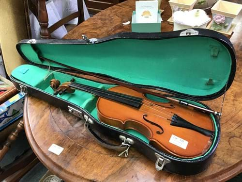 LOT 332	~	Violin in Case - with Bow